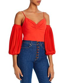 Alice and Olivia - Kamila Off-The-Shoulder Cropped