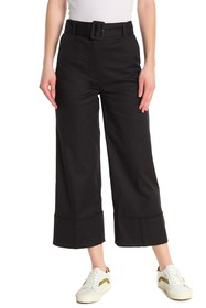 FRAME Belted Cropped Pants