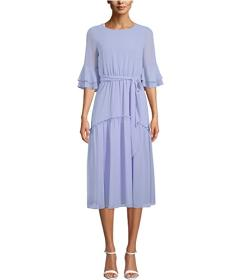Anne Klein Chiffon Bell Sleeve Dress