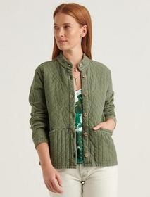 Lucky Brand Quilted Button Front Jacket