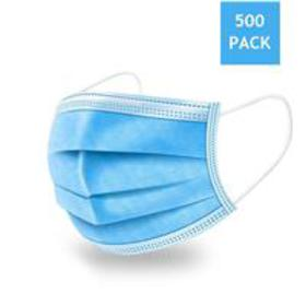 Disposable 3-Ply Fabric Face Mask (Box of 500)