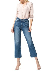 FLYING MONKEY Super High Rise Relaxed Crop Jeans