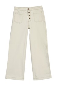 William Rast Cropped Wide Leg Jeans