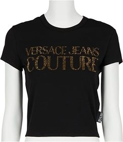 Versace Jeans Couture Short Sleeve Cropped Tee w/