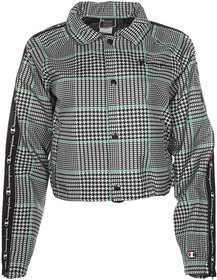 Champion Cropped Coaches Jacket - Houndstooth All