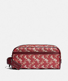 Coach travel kit with horse and carriage print