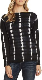 Vince Camuto Long Sleeve Boatneck Tie-Dye Pullover