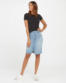 Spanx Distressed Denim Skirt