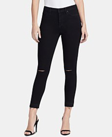 Sculpted Ripped Skinny Ankle Jeans