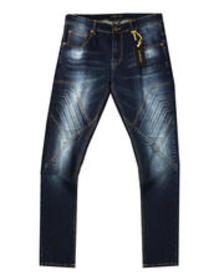 Buyers Picks 3d embossed cut and sew stretch jean