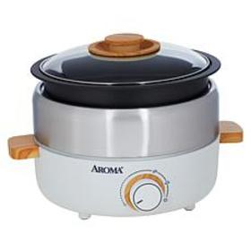 """As Is"" Aroma 2.5-Liter Non-Stick Whatever Pot wit"