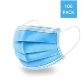 Disposable 3-Ply Fabric Face Mask (Box of 100)