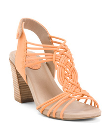 ME TOO Comfort Strappy Leather Sandals
