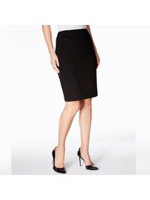 CALVIN KLEIN Womens Black Above The Knee Pencil We