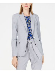 CALVIN KLEIN Womens Gray Striped Wear To Work Jack