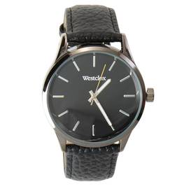 Mens Westclox Black Leather Strap Watch - 51001
