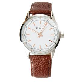 Mens Westclox Brown Leather Strap Watch - 51000