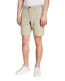 Michael Kors Men's Herringbone Print Slim Shorts