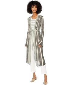 M Missoni Zoned Striped Long Cardigan