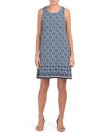 MAX STUDIO Sleeveless Knotted Scroll Ring Jersey D