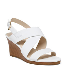 Reveal Designer All Day Comfort Leather Wedge Sand