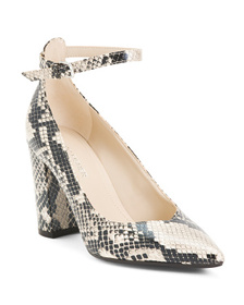MARC FISHER Ankle Strap Pointy Toe Heels