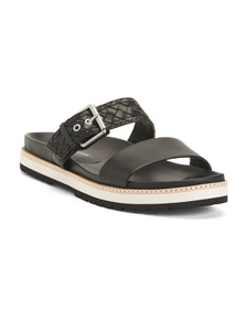 ETIENNE AIGNER Double Strap Leather Sandals