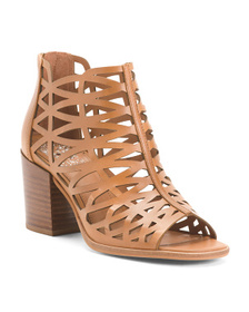 VINCE CAMUTO Made In Brazil Leather Cutout Sandals