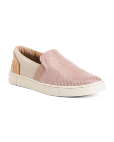 FRYE Stitch Fashion Slip On Leather Sneakers