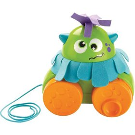 Fisher-Price Walk & Whirl Monster, Pull toy along