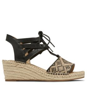 Rockport Women's Marah Lace Medium/Wide Wedge Sand