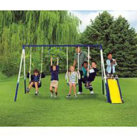 Sportspower Grove Park 4-Leg Metal Swing Set