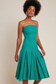 Anthropologie Lelia Eyelet Midi Dress