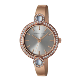 Womens Geoffrey Beene® Mother of Pearl Accent Watc