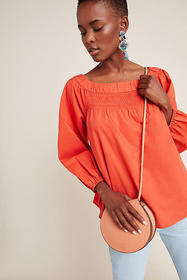 Anthropologie Jessie Smocked Swing Blouse