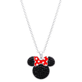 Womens Disney Silver Brass Minnie Mouse Black Crys