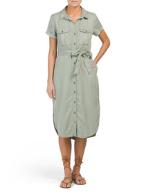 C&C CALIFORNIA Pigment Dye Shirt Dress