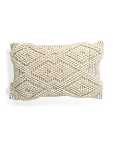 INDIGO COLLECTION 16x24 Woven Knotted Pillow