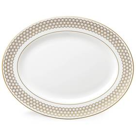 "Lenox Prismatic Gold™ 13"" Oval Serving Platter"