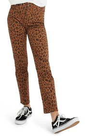 Madewell Literal Leopard High Waist Stovepipe Jean