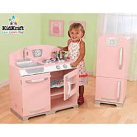 KidKraft Pink Retro Kitchen w/ Fridge