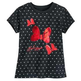 Disney Minnie Mouse Bow and Hearts T-Shirt for Gir