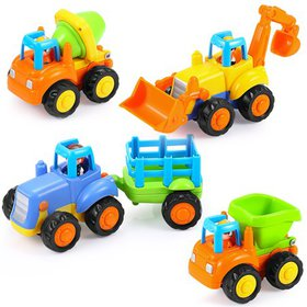 Toy Trucks for 3 + Year Old Boys, Friction Powered