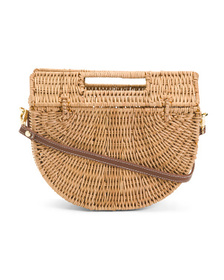 C&C CALIFORNIA Half Moon Rattan Bag