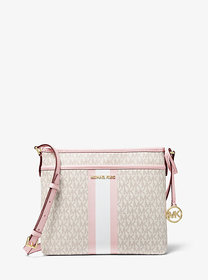 Michael Kors Bedford Small Logo Stripe Crossbody B