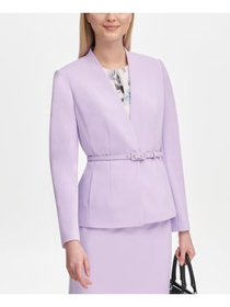CALVIN KLEIN Womens Purple Blazer Wear To Work Jac