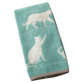 One Home Kitty Cat Jacquard Hand Towel