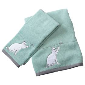 Kitty Cat Embroidered Hand or Bath Towel