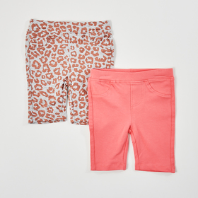 Toddler Girl Freestyle 2pk. of Meow Print & Solid