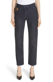 Michael Kors Genuine Calf Hair Pocket Straight Leg